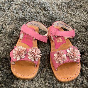 Girls Kid Express Fuchsia Flower Sandals